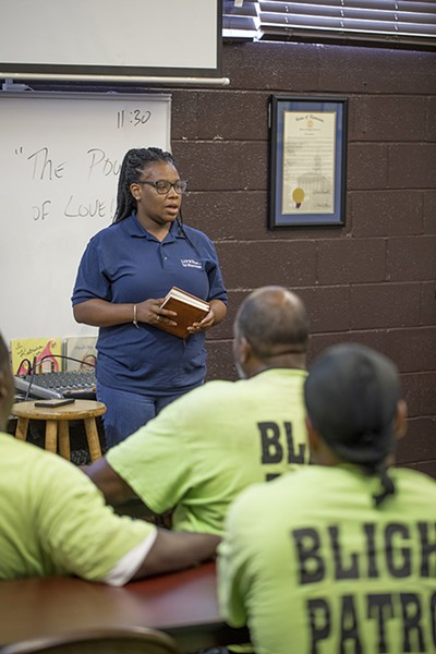 Beverleye Orr leads a LifeLine to Success class to help ex-offenders re-enter society. - JUSTIN FOX BURKS