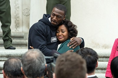 Aldis Hodge (left) plays - Brian Banks in the new film by Tom Shadyac. Sherri Shepherd plays his mother, Leomia. - KATHERINE BOMBOY / BLEECKER STREET