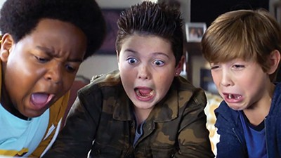 Ain't misbehavin' — (l-r) Keith L. Williams, Brady Noon, and Jacob Tremblay are Good Boys.