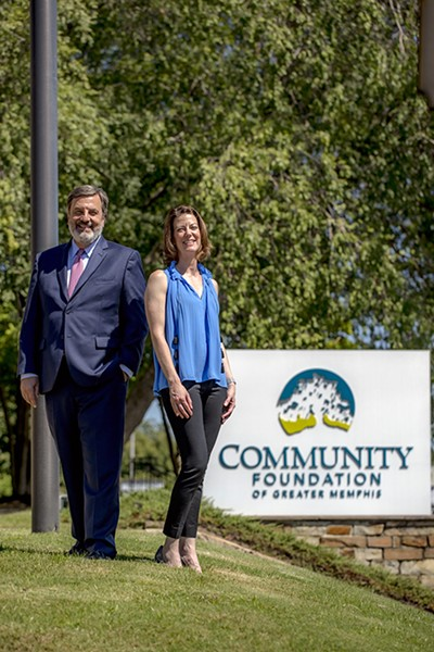 Community Foundation of Greater Memphis CEO Bob Fockler and Executive Vice President Sutton Mora Hayes - JUSTIN FOX BURKS