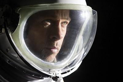Brad Pitt as Major Roy McBride in Ad Astra.