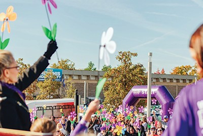 Put on your walkin' shoes for - the Walk to End Alzheimer's. - WHITNEY SHUBECK