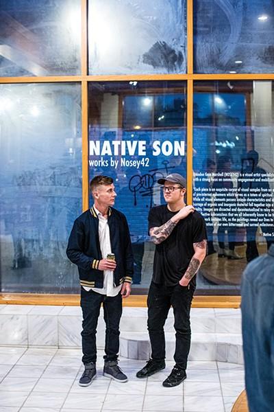 """Native Son"" showcases the work of muralist and graffiti artist Brandon ""Nosey"" Marshall."