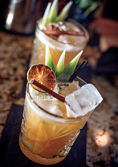 Craft cocktails — just don't gouge your eye out with a cinnamon stick. - JUSTIN FOX BURKS