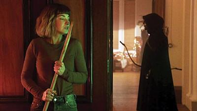 Imogen Poots (above) stars in Sophia Takal's holiday horror remake, Black Christmas.