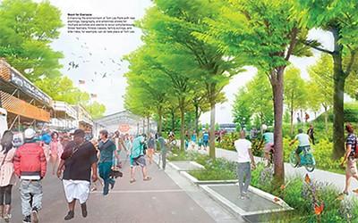 A rendering of the MRPP-helmed redesign of Tom Lee Park