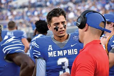 Memphis Tigers quarterback and Ph.D. candidate Brady White - PHOTOGRAPHS BY LARRY KUZNIEWSKI
