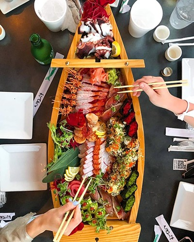 Don't rock the sushi boat.