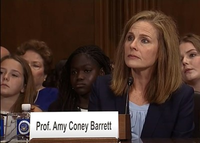 Amy Coney Barrett before the Senate Judiciary Committee - WIKIPEDIA: CSPAN