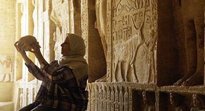 In Secrets of the Saqqara Tomb, the diggers and scientists are locals. They're captured on film by Memphis-based cinematographer Ryan Earl Parker.