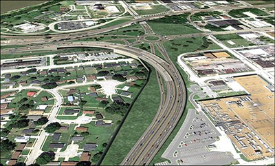 An artists rendering of the proposed new interchange at I-55 and Crump. - COURTESY TDOT