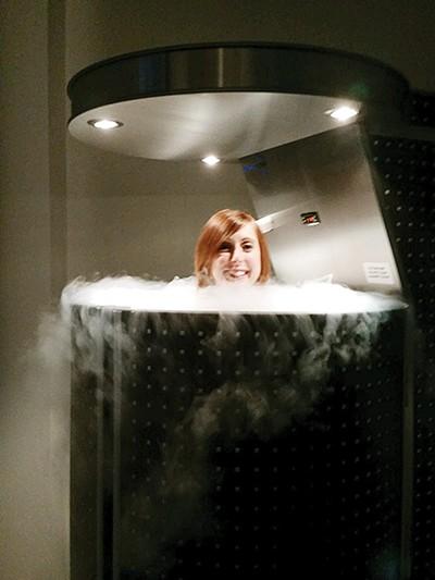 Bianca in the cryo chamber