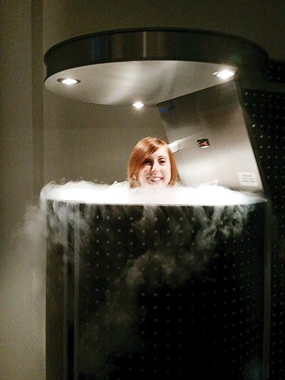 Bianca in the cryo chamber