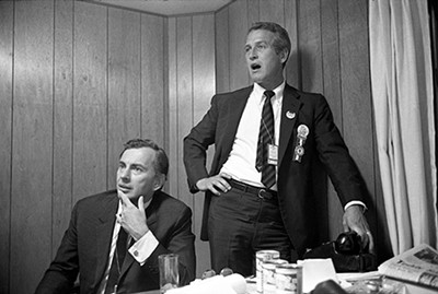 Gore Vidal and Paul Newman in Best of Enemies. - PHOTO COURTESY OF MAGNOLIA PICTURES