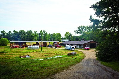 A repurposed barn and horse arena serve as home base to Tennessee Tiny Homes - JUSTIN FOX BURKS