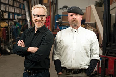 Adam Savage (left) and - Jamie Hyneman