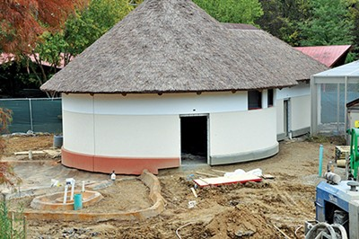 The Zoo's Hippo Camp exhibit - is still under construction.