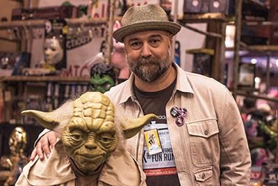 Director Craig Brewer with Yoda - LAURA JEAN HOCKING