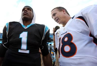 Cam Newton and Peyton Manning - ZIMBIO
