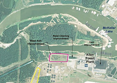 Map of the Allen Fossil Plant and its ash impoundments - TENNESSEE VALLEY AUTHORITY
