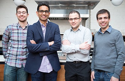 (L to r) Morgan Reese, Uma Valeti, Nick Genovese, and David Kay - COURTESY OF MEMPHIS MEATS
