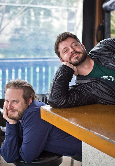 Davin Bartosch (lower) and - Kellan Bartosch (upper), owners of Wiseacre Brewing