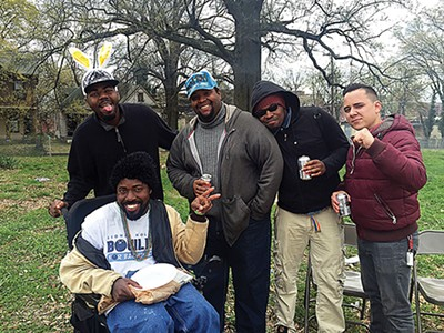 Members of H.O.P.E. at the garden farewell party last weekend - BIANCA PHILLIPS