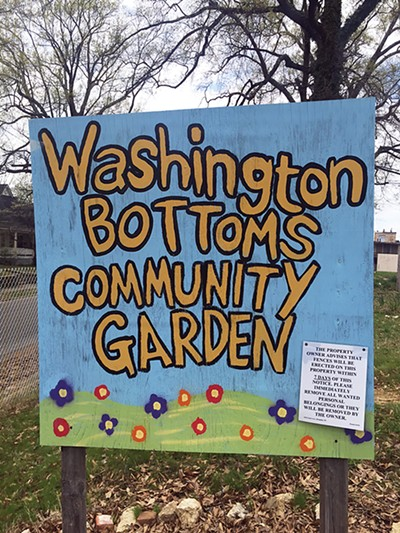 Eviction notice on garden sign - BIANCA PHILLIPS