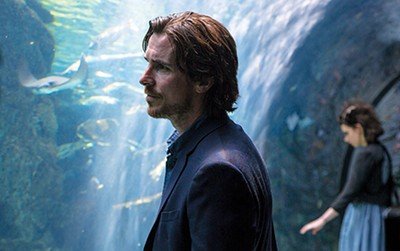Christian Bale looks sad in Malick's Knight of Cups.
