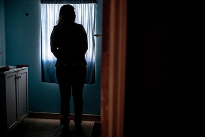 Elena Vargas says that, because of the monitor, she is ashamed to leave her house.