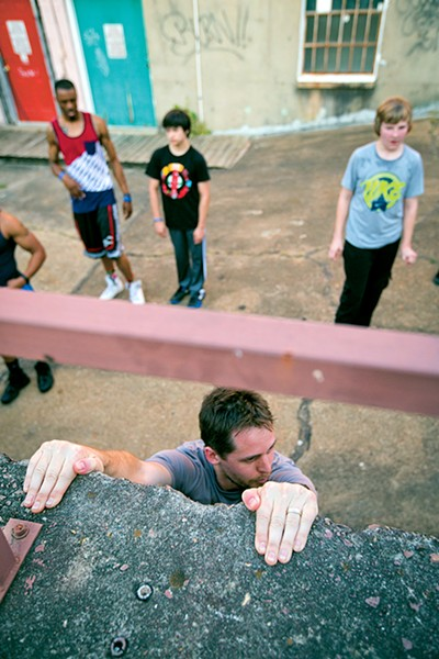 Hang on — classes at Co-Motion Studio include Parkour for Everyone, Sundays 1-2 p.m.; Low Impact Parkour, Sundays 2:15-3:15 p.m.; and Parkour Skills (13+), Tuesdays 6:30-7:30 p.m. Sign up at comotionmemphis.com.