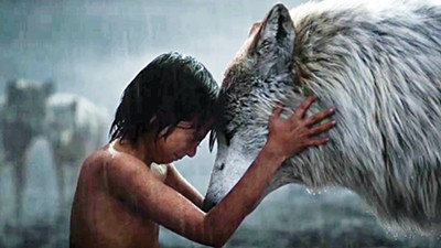 Wolf boy — Neel Sethi as Mowgli.