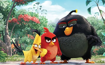 The Angry Birds Movie features these birds, who are angry (especially the red one).