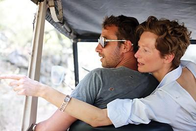 Matthias Schoenaerts (left) and Tilda Swinton have first world problems in A Bigger Splash.