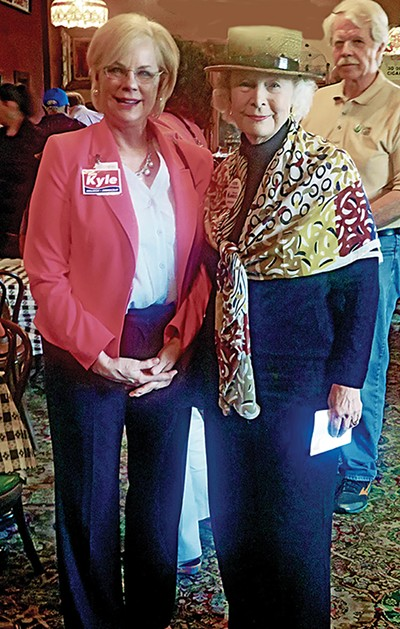 State Senate opponents Sara Kyle (left) and Beverly Marrero at the Diversity Memphis forum - JACKSON BAKER