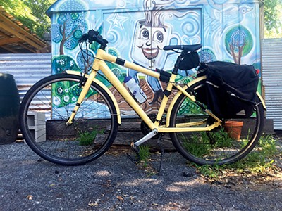 My Ride: Toby Sells, Bike: hybrid, Used for: commuting
