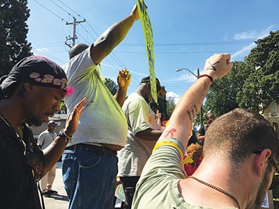 Housing protest at Memphis Housing Authority - JOSHUA CANNON
