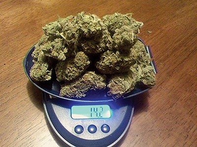 14.2 grams of the sticky-icky, ganja, herb, Mary Jane, or, in short, weed
