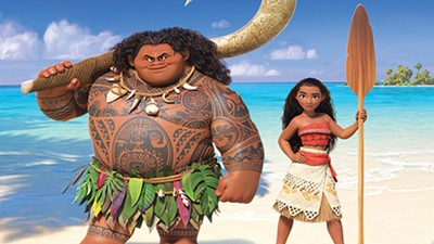 "Dwayne ""The Rock"" Johnson and Auli'i Cravalho are the voices behind the demigod Maui (left) and Moana, the eponymous teen ""princess"" of Disney's new animated feature."