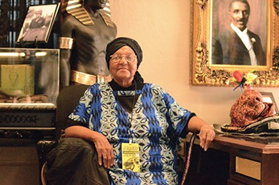 "Georgia King, known across Memphis as ""Mother King,"" perches - at a community development center in New Chicago. - Long familiar with the ails of Memphians reliant on MATA, - she started a transit-focused task force in 2011 which would - later evolve into the MBRU."
