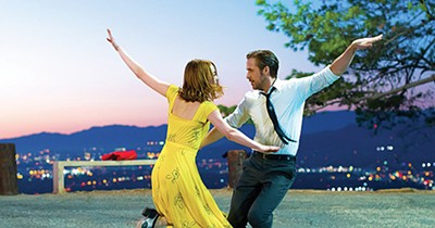 Emma Sone and Ryan Gosling star in Damien Chazelle's La La Land.