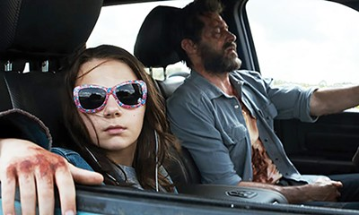 Dafne Keen and Jackman