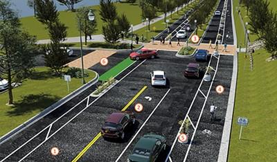 The new plan for bike lanes - on Riverside