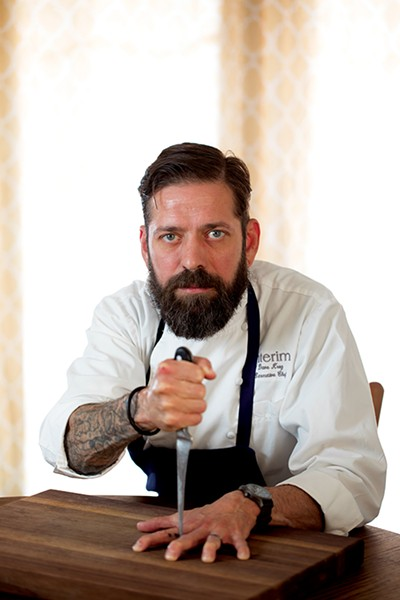 "More than just muscle memory — Chef David Krog keeps his cool and serves up ""pretty food"" as the executive chef at Interim Restaurant."