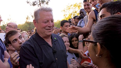 Al Gore (above) keeps his cool — even while he warns of a global meltdown.