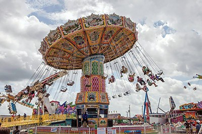 The Delta Fair midway last year - DELTA FAIR AND MUSIC FESTIVAL