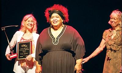 Ruby O'Gray (right) at the - Ostrander Awards - DON PERRY