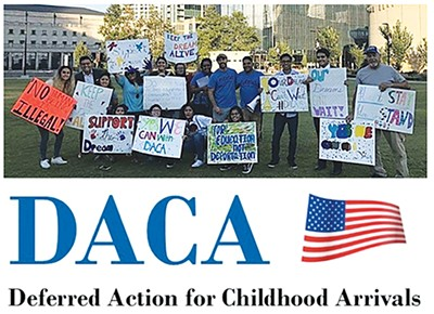 The piece took aim at DACA students.