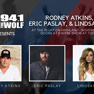 94.1 The Wolf presents Rodney Atkins, Eric Paslay, Lindsay Ell