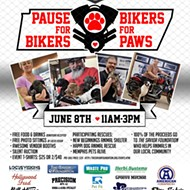Pause for Bikers. Bikers for Paws.